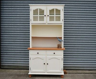 Small Pine Kitchen Dresser Painted Shabby Chic Distressed.