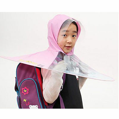 Kids Children UFO Foldable Hands Free Umbrella Cap Hat Portable Headwear