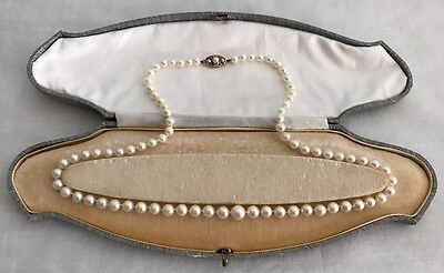 Vintage Victorian 9k Gold Cultured Freshwater Pearl Necklace 22""