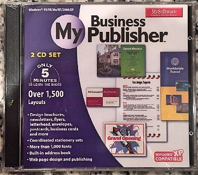 MySoftWare My Business Publisher (PS) BRAND NEW SEALED -FREE U.S. SHIP -WIN8, 7