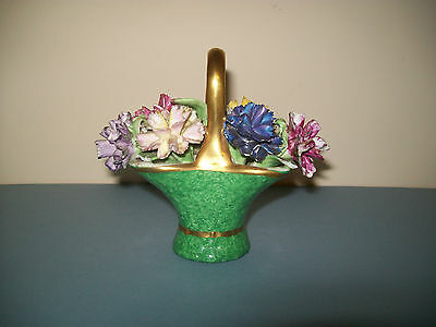 Crown Staffordshire China flower basket - dating from the 1930s