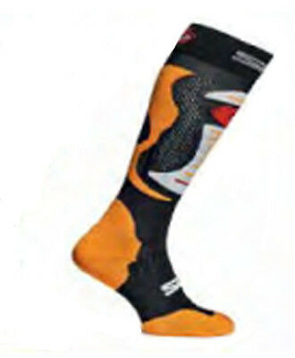 Sidi Faenza Fluo Orange Motorcycle Motorbike Long Socks