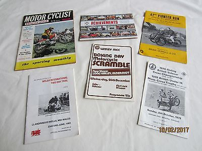 Motor Cycle Programmes + Others