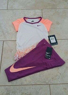 New Nike Infant Girls T-Shirt & Leggings Outfit Set Size: 24 Months