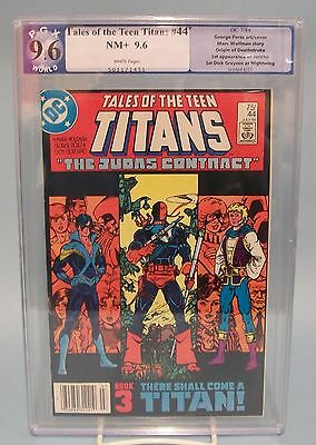 Tales of the Teen Titans #44 PGX 9.6 not CGC DC Comics Origin Deathstroke