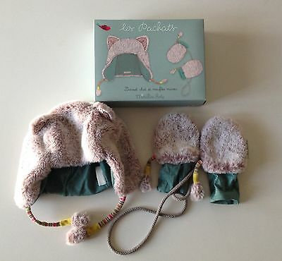 Moulin Roty Les Pachats Set Berretto E Muffole