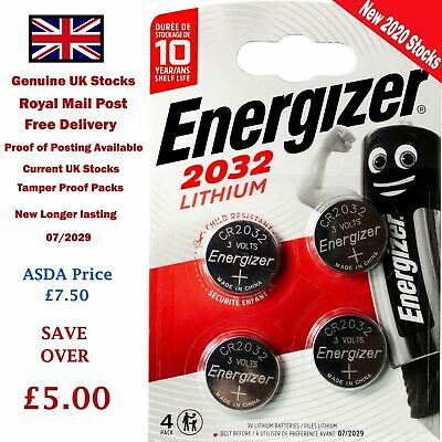 Energizer Battery CR2032 4 Pack 3V Lithium Button Coin Cell Key Fob