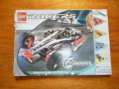 Lego Racers Set 8470 Slammers G-Force Instruction Manual Book Only