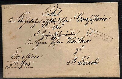 Rrr! 1850 Revel Cover Estonia Tallinn Seal Sealed Russia  Empire Imperial Stamp