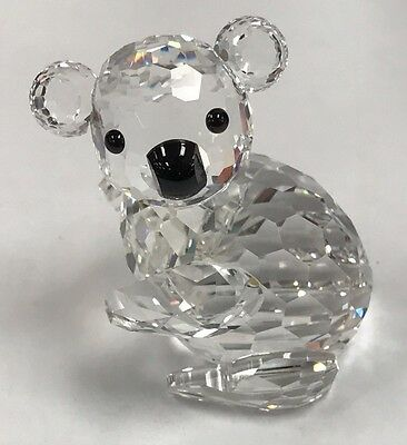 SWAROVSKI CRYSTAL ENDANGERED SPECIES KOALA BEAR FIGURINE 14366 w/ BOX & COA NIB