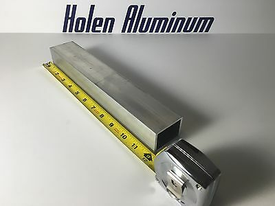 "1.5"" X 2"" X 1/8"" X 12"" Length Aluminum Rectangular Tube 6063-T52"