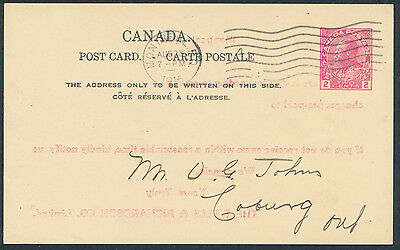 1915 #P33i 2c George V PC, Type 8, Die I, Montreal to Cobourg