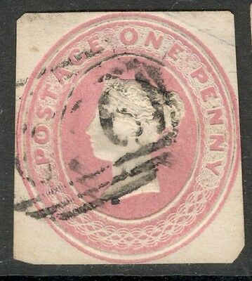Queen Victoria - 1d Pink Embossed - Postal Stationery