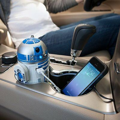 Officially-Licensed DISNEY Star Wars R2-D2 USB Car Charger F/S