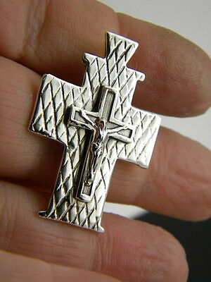 sterling silver crucifix cross pendant orthodox Gothic