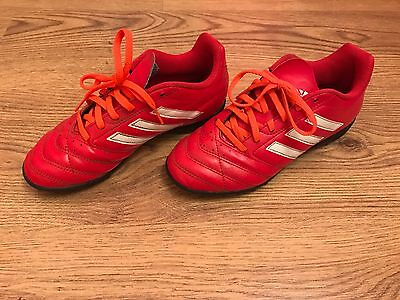 Adidas Boys Football Trainers/Astro Turf/Soccer Trainers Size 4 Good Condition