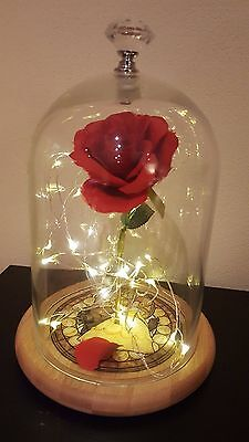 Beauty and the Beast rose lamp light valentines gift romantic disney inspired