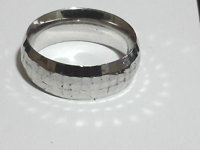 Wedding Band in Sterling Silver Size 6 Stamped AK925 Turkey