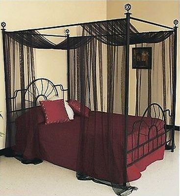 Four Poster Beds Canopy Curtain For King Queen Bed Sheer Netting 1 Panel Drape