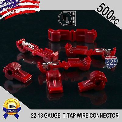 POSI-TAP® 20pc Red 20-22 Gauge Positap Electrical Connector POPULAR SIZE!!
