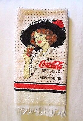 """Vintage """"Drink Coca Cola Delicious And Refreshing"""" HAND TOWEL -  by Cannon"""