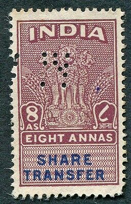 INDIA 8a SHARE TRANSFER Revenue/Fiscal PERFORATED CANCEL #W14