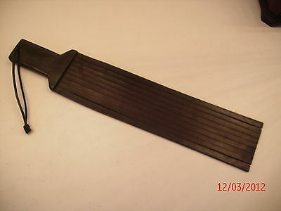 All Leather Paddle Whip Flogger Tawse  With Nine Thongs