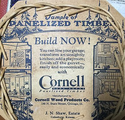 Cornell Wood Products Advertising Basket Chicago , Illinois
