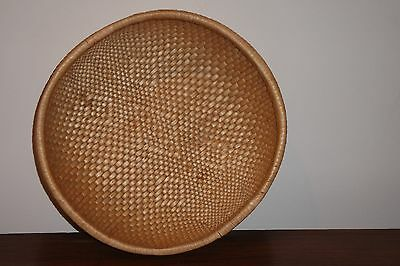 Vintage Hand Woven Asian Bowl Basket 14''