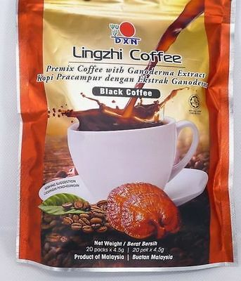 Lingzhi Black Coffee contains Arabic instant coffee 4 sachets  $5.95