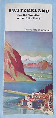Vintage 1940s Switzerland Vacation of a Lifetime Brochure Swiss Federal Railroad