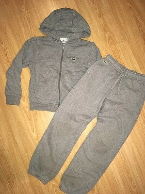 Boys Lacoste Tracksuit, Joggers And Jacket, Age 6-7 / 8 Years