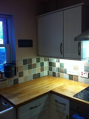 White Howdens Kitchen Cupboards And Butler Sink