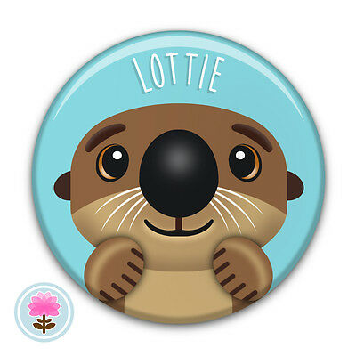 Personalised OTTER Compact/Travel/Handbag/Purse/Makeup Pocket Mirror (58mm) Gift