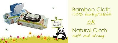 bambure  WIPES, BULK 12 PACKS OF 80 YOUR CHOICE OF BAMBOO OR NATURAL