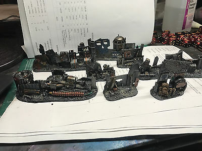 Warhammer 40K Scenery Painted Ork Barricade Wall set QW Games Workshop