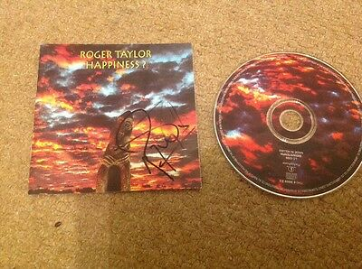 Roger Taylor   - Happiness  -  Queen - Signed  Uk  Cd  - Authentic - Uacc - Coa
