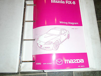 Mazda Rx-8 Wiring Diagram Book.4/2003 Part Number 5573-1E-03D