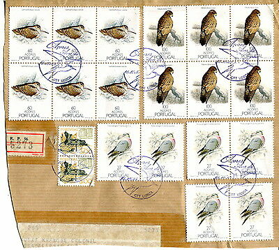1988 Portugal Azores. Buzzard + Woodcock + Wood Pigeon on piece. Acores