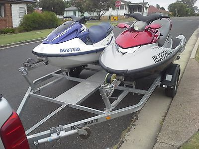 Jet Skis (2) , and Double Trailer .Yamaha 1200 & Polaris MSX1500