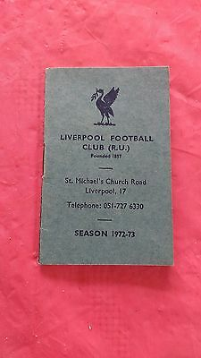 Liverpool 1972-73 Rugby Members Ticket and Fixture Card