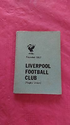 Liverpool 1978-79 Rugby Members Ticket and Fixture Card