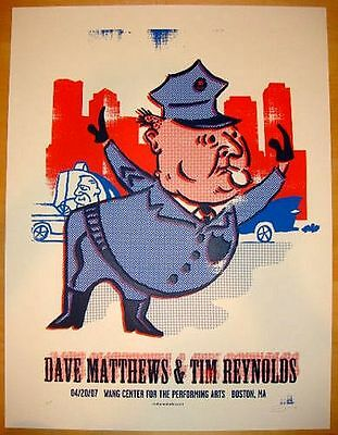 Dave Matthews Band Tim Reynolds Poster Boston MA 2007 Signed Numbered DMB Mint