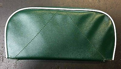 Rear / back rest cushion green with white piping for Vespa, LML & Lambretta