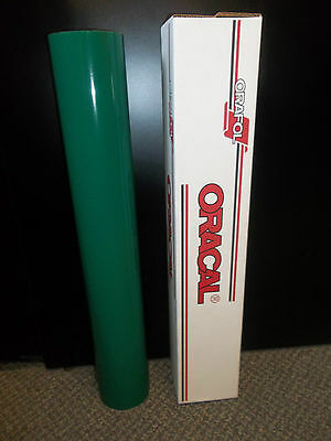 "Oracal 651 1 Roll 24""x10yd (30ft) Gloss Forest Green Sign Vinyl"