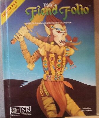 Advance Dungeons and Dragons Fiend Folio (1980) Tsr