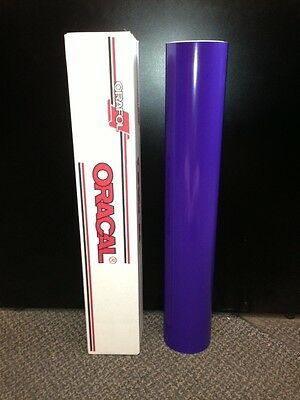 "Oracal 651 1 Roll 24""x10yd (30ft) Purple Gloss 404 Sign Vinyl"