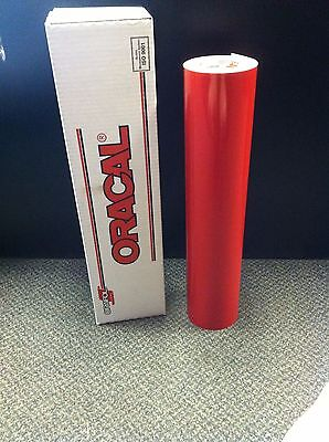 "Oracal 651 1 Roll 24""x50yd(150ft) Red Gloss Sign Vinyl"