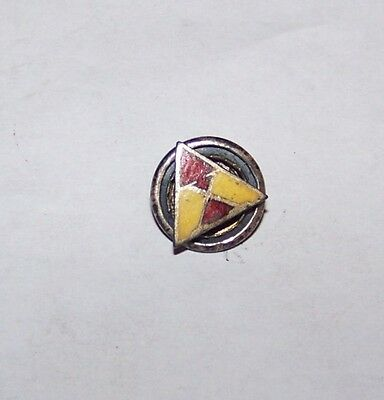 Wwi Sterling 10Th Infantry Regiment Corps X Triangle Lapel Badge Pin