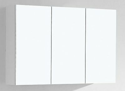 900mm High*1500/1200/900mm Mirror Shaving Cabinet Pencil Edge 2pack Gloss White